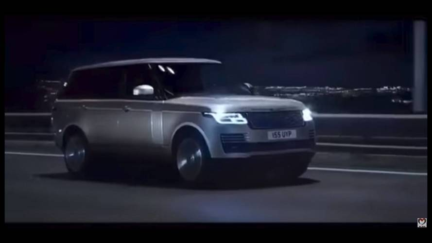 2018 Range Rover facelift screenshots from leaked promo video