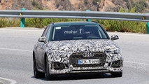 2018 Audi RS4 Avant with Sonoma Green paint spy photos