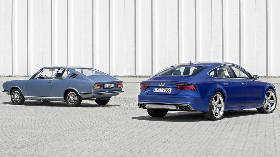 Audi S7 with Audi 100 Coupe S