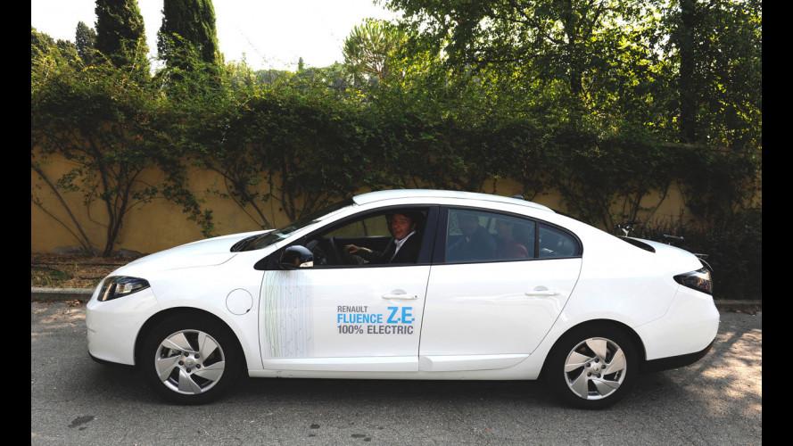 Matteo Renzi ha provato la Renault Fluence Z.E.