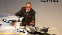 Dr. Vijay Mallya, Sahara Force India F1 Team Owner with the Sahara Force India F1 VJM10