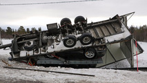 Porsche 911 transporter crash