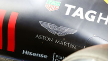 Aston Martin logo on the Red Bull Racing RB12