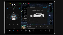 Tesla Model 3 dashboard
