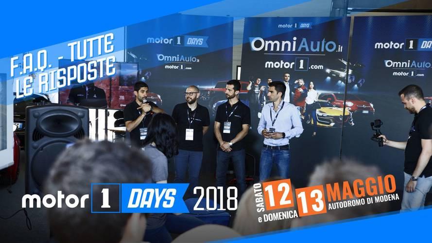 Motor1Days 2018: rispondiamo a tutte le vostre domande!