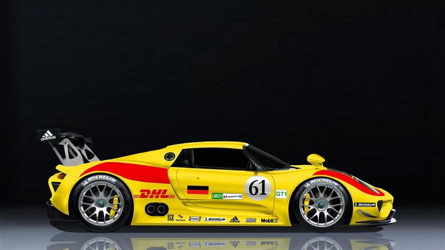 Porsche 918 RSR Race Car Rendered