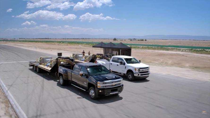 Watch A Chevy Silverado HD Drag Race A Ford Super Duty