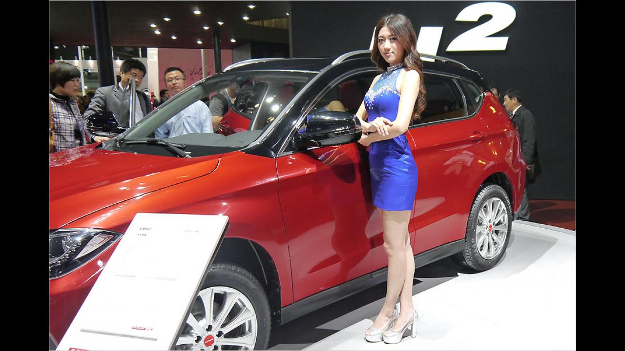 Ein Glück: Auch in China sind lange Röcke nicht in Mode
