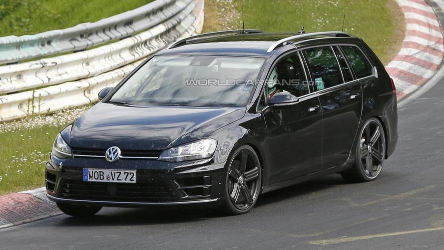 Volkswagen Golf R Estate spied on the Nurburgring