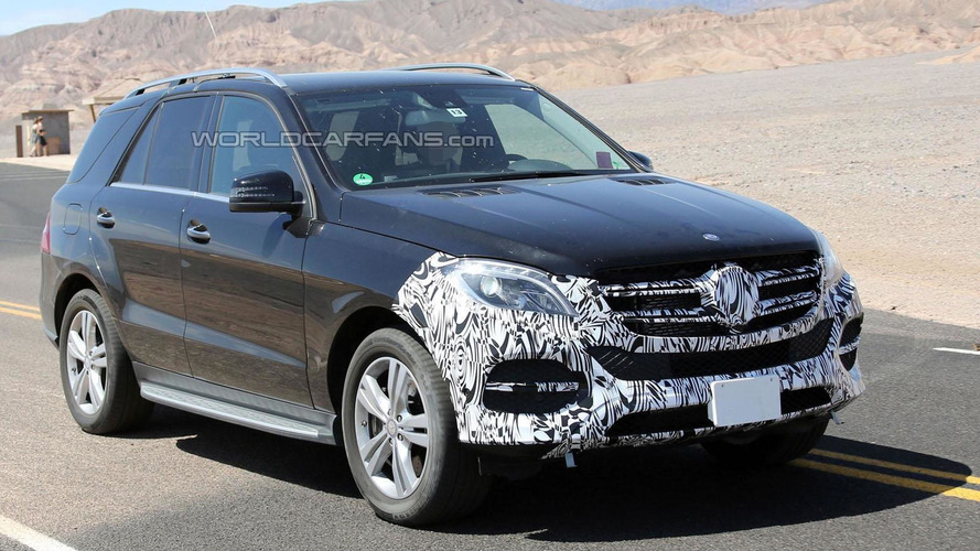 2015 / 2016 Mercedes M-Class facelift spied with less disguise