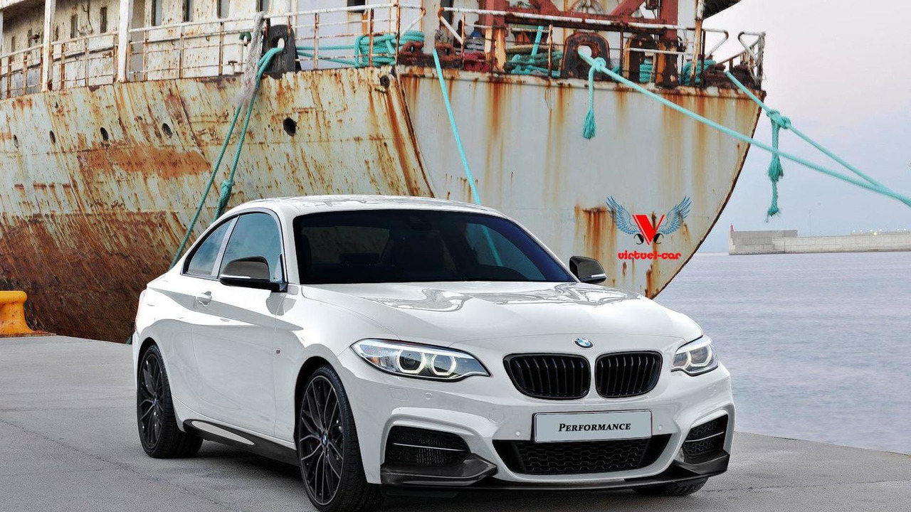 2014 BMW 2-Series Coupe rendered with M Performance kit 30.10.2013