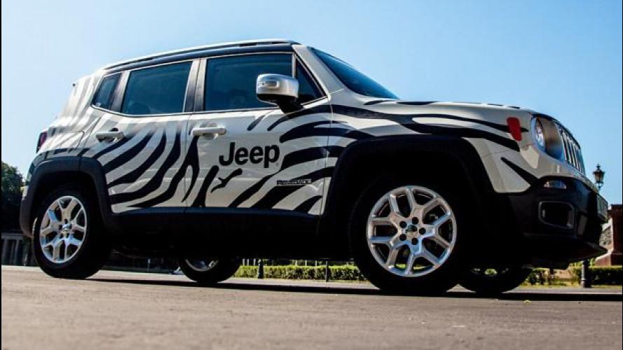 """50 Jeep Renegade """"zebrate"""" a Berlino per la Champions League"""