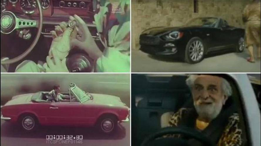 Fiat 124 Spider, gli spot di ieri e di oggi a confronto [VIDEO]