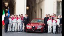 Alfa Romeo Giulia con Mattarella e Renzi
