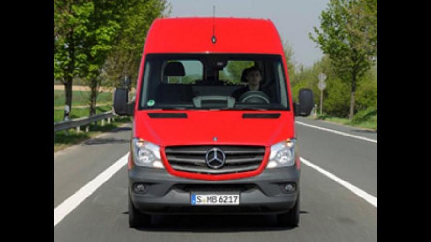 Sulle colline di Montalcino con il nuovo Mercedes Sprinter