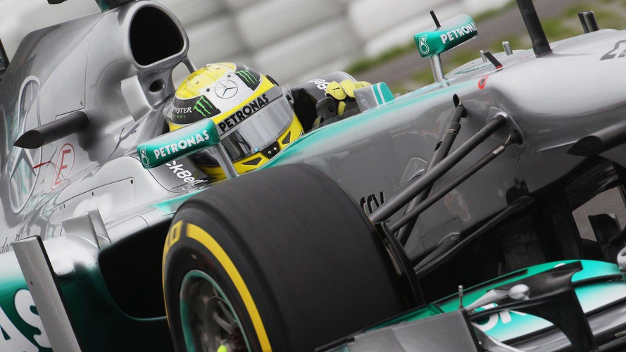 Mercedes using infrared camera to monitor tyres
