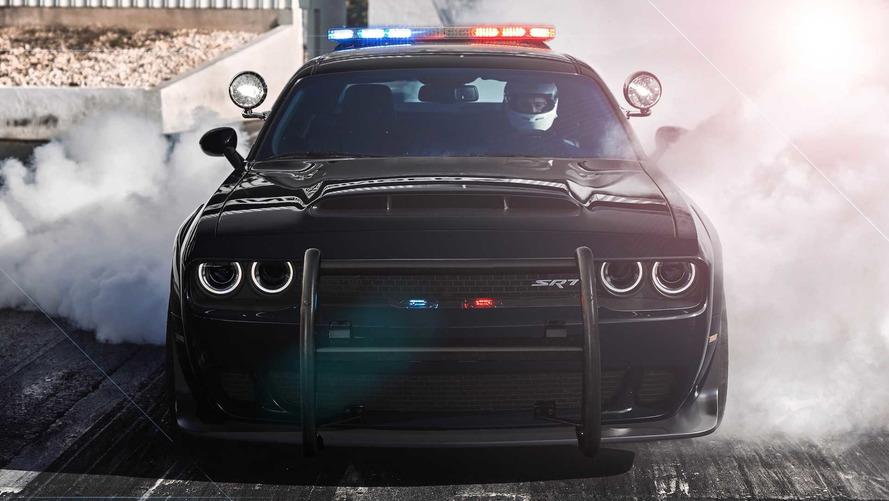 Dodge Demon Police Car Rendering