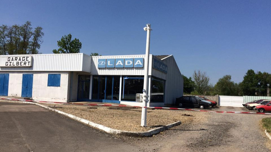 Abandoned French Lada dealership