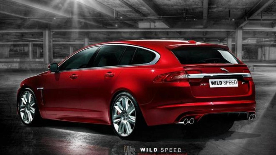 Jaguar XF-R Sportbrake rendered