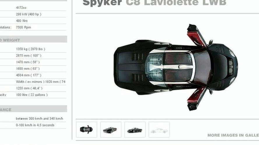 Spyker C8 Laviolette LWB to Debut at Geneva