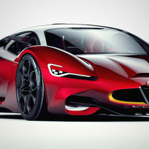 Alfa Romeo Furia Concept Envisions an Italian Supercar Unlike Any Other