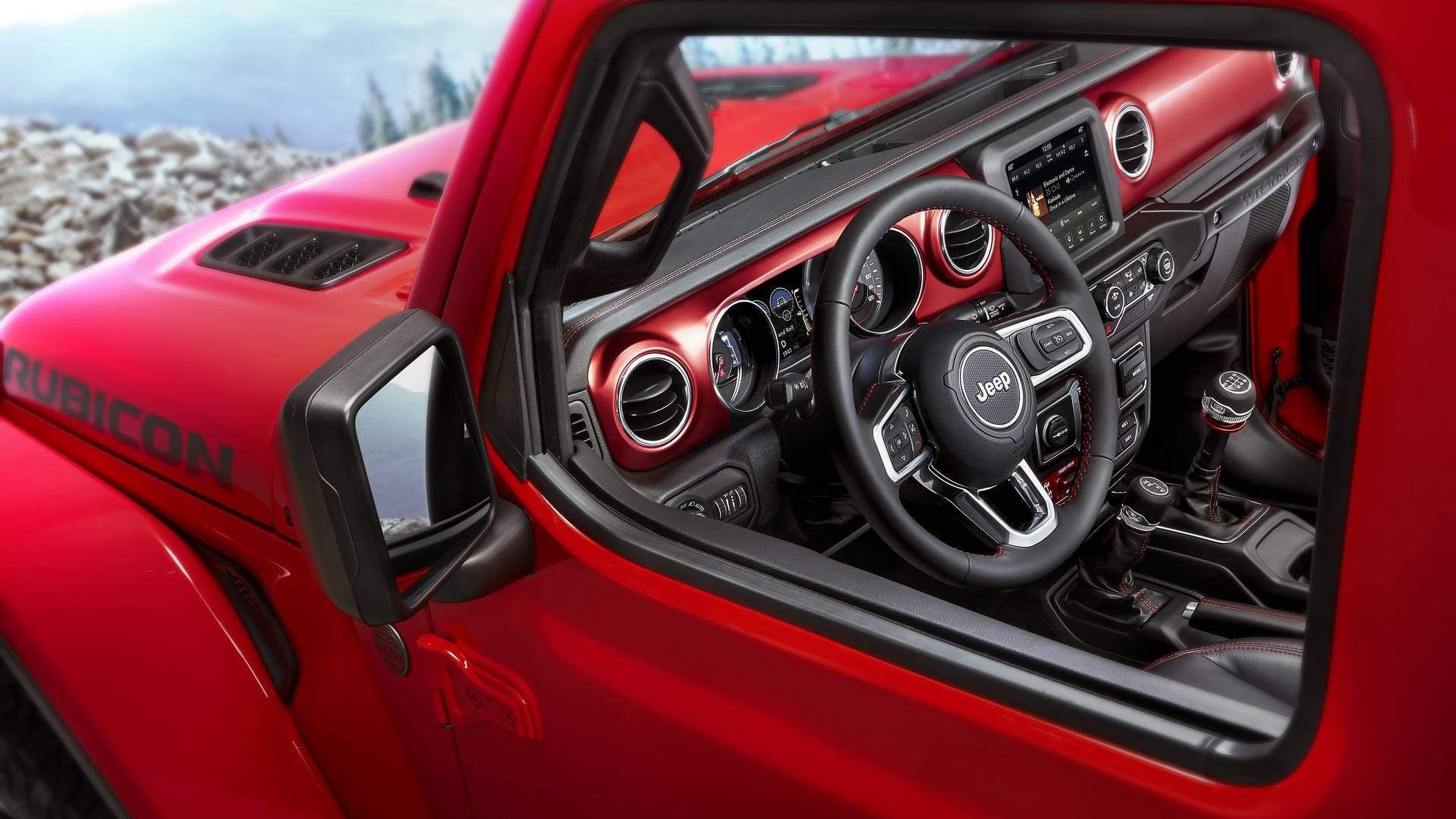 2018 jeep wrangler shows off interior in official images. Black Bedroom Furniture Sets. Home Design Ideas