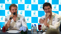 Nico Rosberg, Mercedes AMG F1, Toto Wolff, Mercedes AMG F1 Shareholder and Executive Director