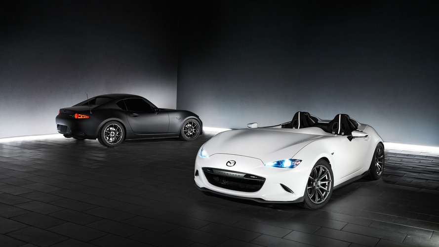 Mazda's featherlight MX-5 Speedster and RF Kuro presented for SEMA