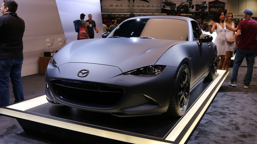 mazda mx 5 miata rf kuro concept live photos. Black Bedroom Furniture Sets. Home Design Ideas