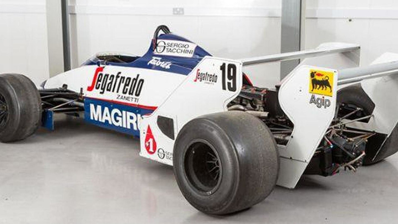 Toleman TG183B driven by Ayrton Senna