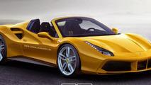 Ferrari 488 GTB goes topless in new renderings
