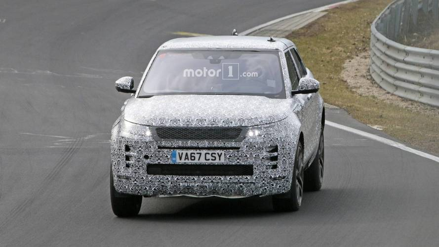 2019 Range Rover Evoque spied at the Nurburgring