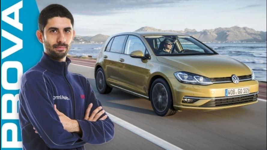 Volkswagen Golf restyling, la prova dell'auto su misura [VIDEO]