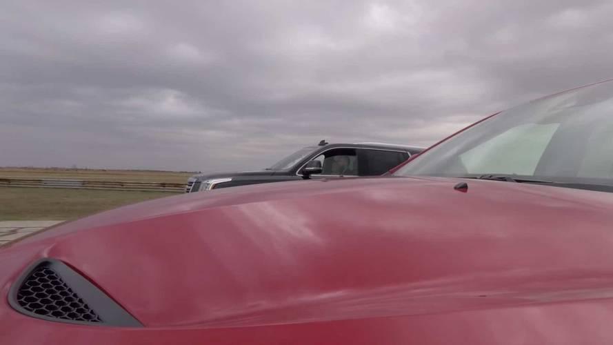Hennessey Cadillac Escalade Vs Jeep Grand Cherokee Trackhawk
