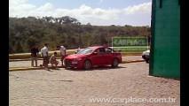 Exclusivo: Mitsubishi Lancer Evolution X é flagrado em gravação de comercial no Brasil