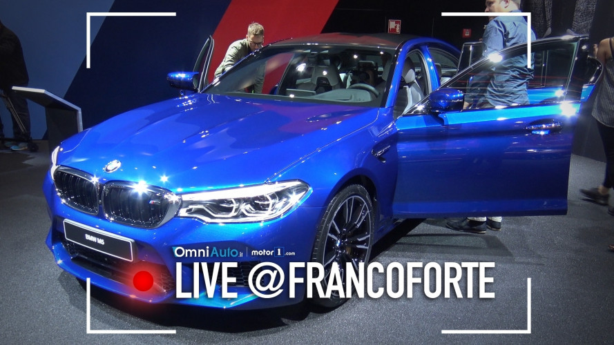 Nuova BMW M5, a Francoforte quella con la trazione integrale [VIDEO]