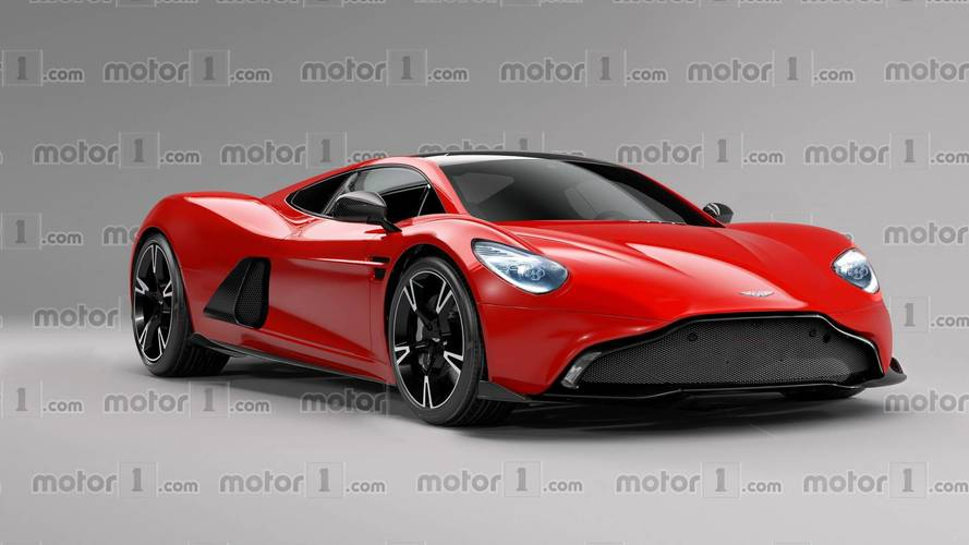 Mid-Engined Aston Martin Sports Car Rendered