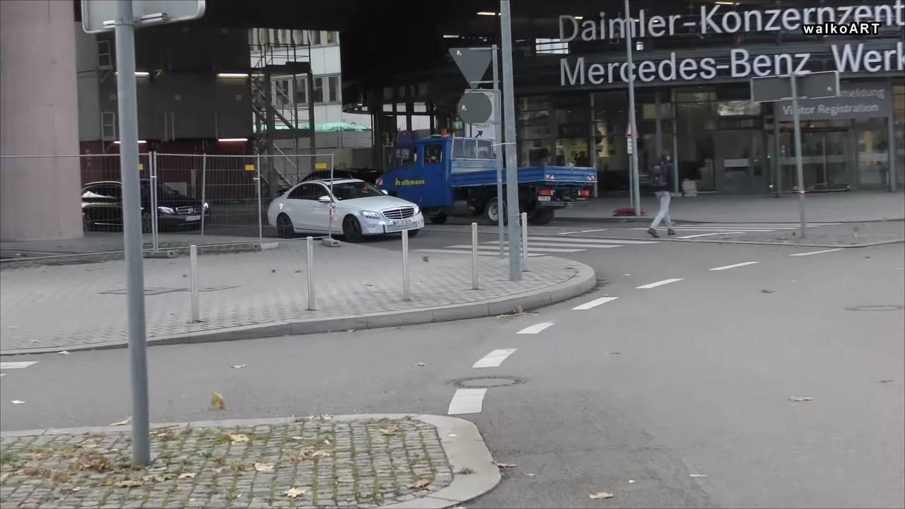 2018 Mercedes C350e facelift spy photo