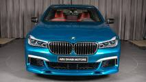 BMW M760Li xDrive en azul Long Beach