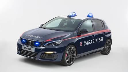 Les carabiniers italiens reçoivent une Peugeot 308 GTi
