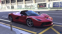 Ferrari LaFerrari Aperta on the road