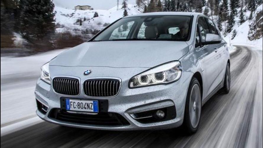 BMW 225xe, l'ibrida plug-in integrale che non teme la neve