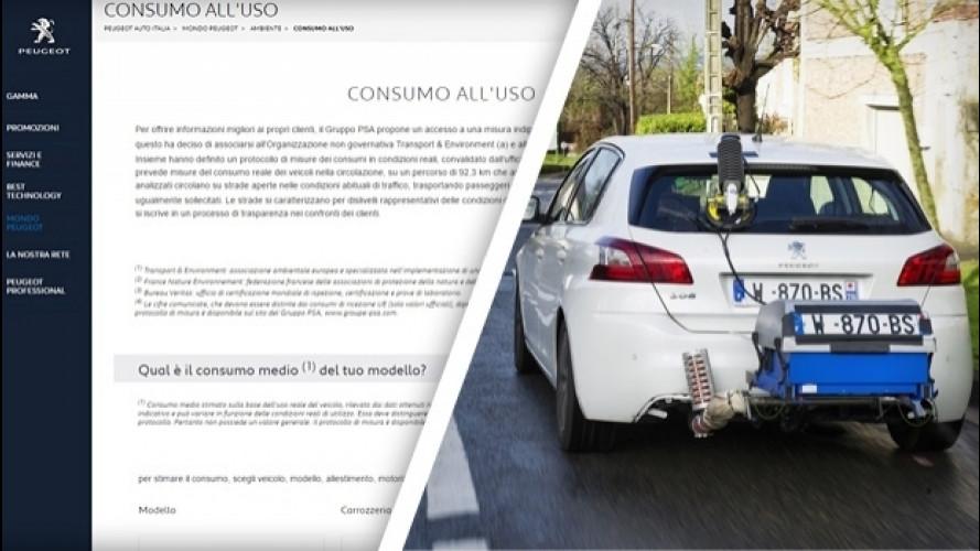 PSA, online i consumi reali di Citroen, DS e Peugeot