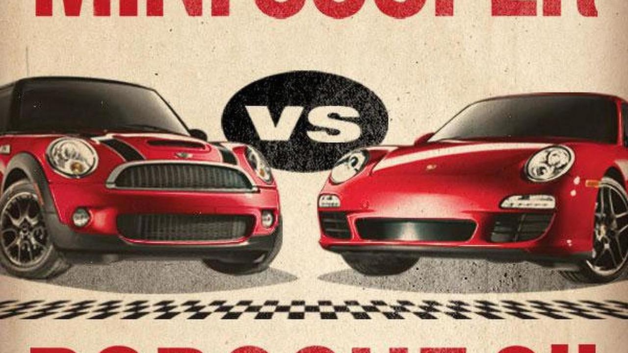 MINI vs Porsche promo illustration, 600, 17.06.2010
