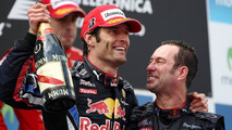 Mark Webber celebrates winning 2010 Spanish Grand Prix