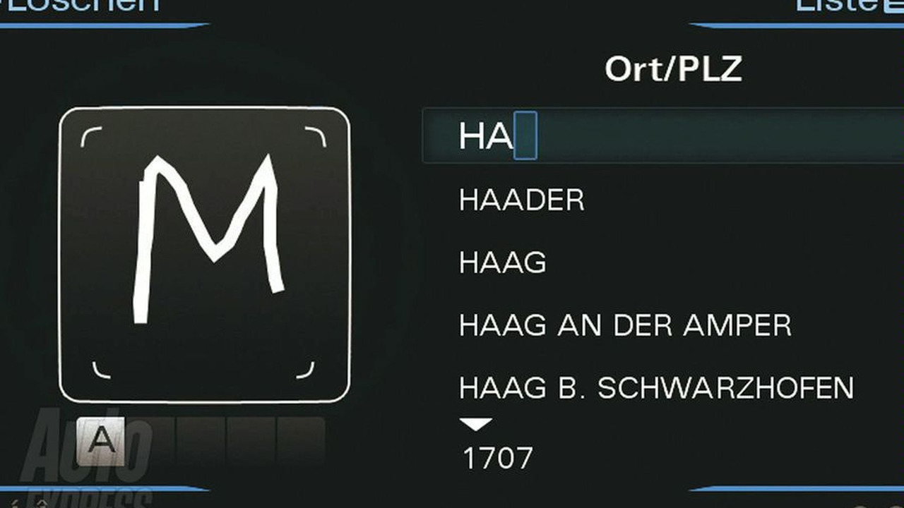 Audi handwriting recognition technology - 900