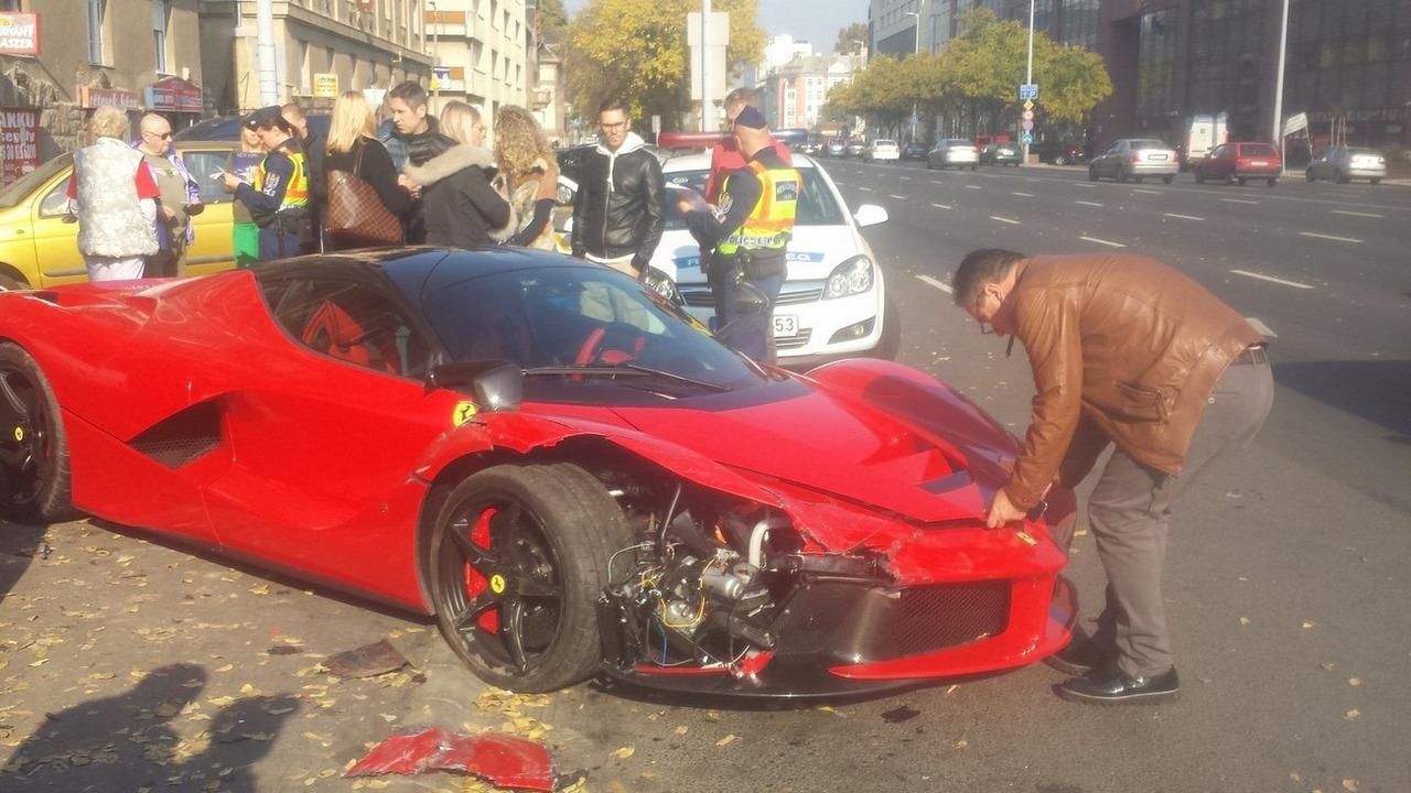 LaFerrari accident in Budapest