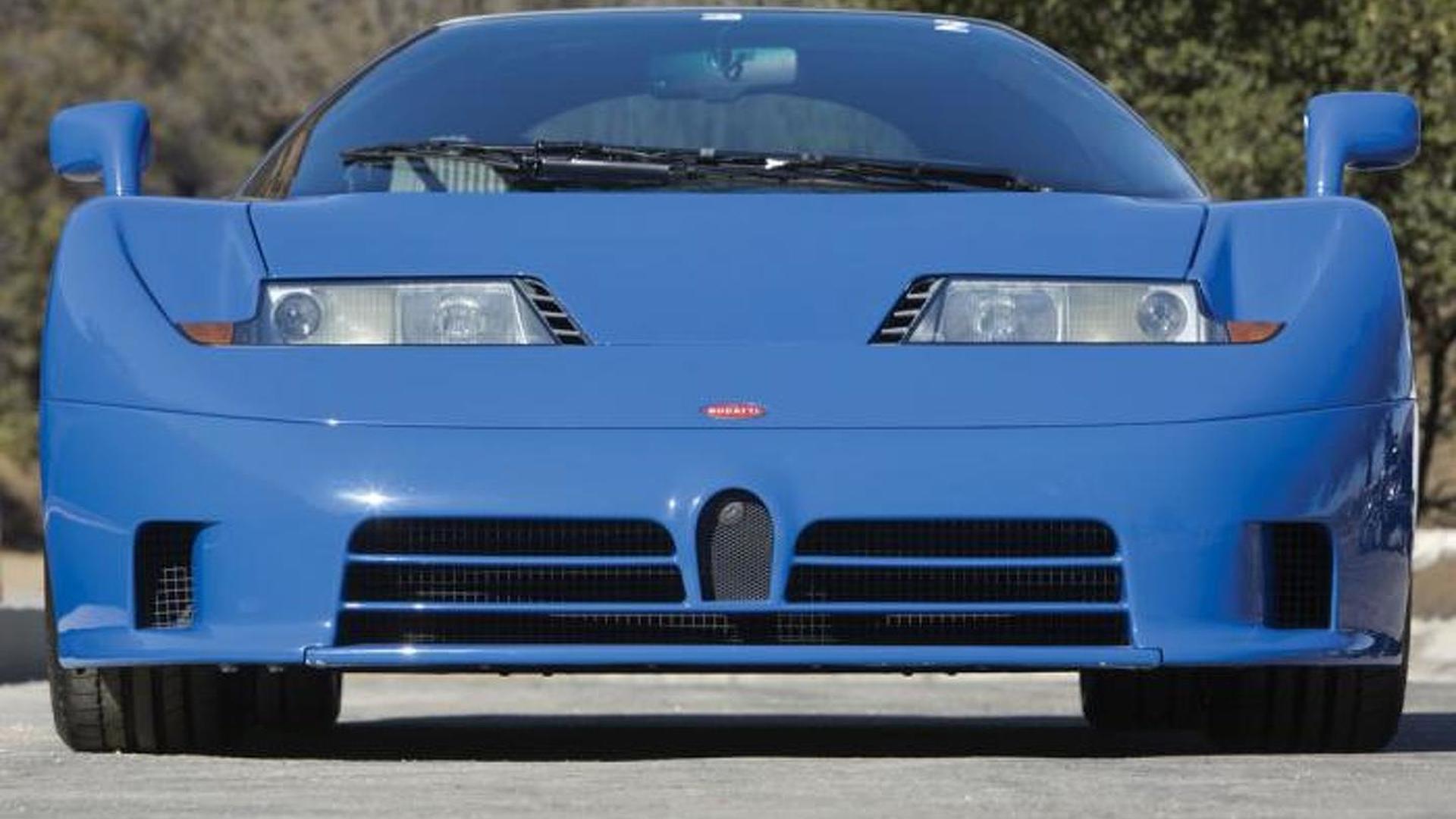 Синяя Bugatti EB110 GT
