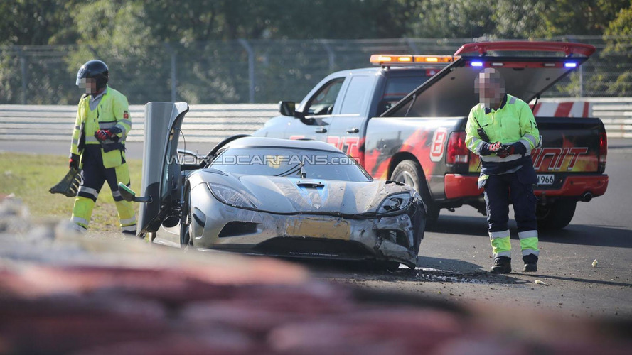 Koenigsegg Agera R development car crashes on the Ring