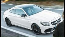 Vazou! Novo Mercedes Classe C coupé já aparece na versão C63 S AMG